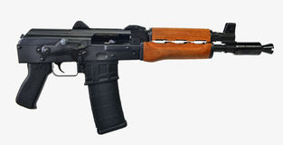 AK47 Pistol isolated 0n white background Royalty Free Stock Image