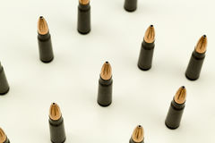 Ak-47 Rifle Cartridge Hollow Point Bullet 7.62x39mm Top View Tight Crop Royalty Free Stock Photography