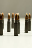 Ak-47 Rifle Cartridge Hollow Point Bullet 7.62x39mm Side View Abstract Royalty Free Stock Photography