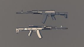 AK rifles royalty free stock images