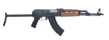 AK 47 som isoleras på den vita bakgrundsrätten Fotografering för Bildbyråer