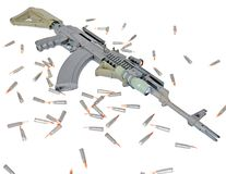 AK-47. A tactical AK-47 is ready for special operation use Royalty Free Stock Photo