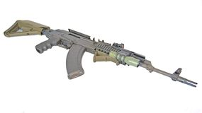 AK-47. A tactical AK-47 is ready for special operation use Royalty Free Stock Image