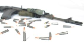 AK-47. A tactical AK-47 is ready for special operation use Stock Image
