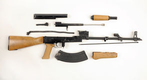 AK47 AKM Field Stripped. KALASHNIKOV Royalty Free Stock Photo