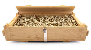 AK47 ammo. In a box Stock Photo