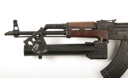AK47 grenade launcher Royalty Free Stock Photos