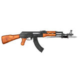 AK47 Kalashnikov Assault Rifle Stock Photo