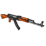 AK47 Kalashnikov Assault Rifle Royalty Free Stock Photo