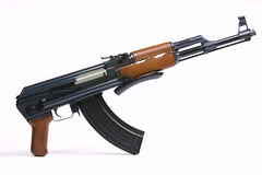 AK47 Rifle. On a white background Royalty Free Stock Photo