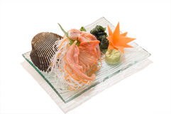 Aka-Gai Sashimi Stockbilder