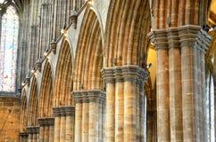 Aka haut Kirk de cathédrale de Glasgow du mungo de Glasgow ou de rue Kentigern ou de rue Images libres de droits