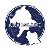 Aka mappa di vettore dell'isola Fotografie Stock