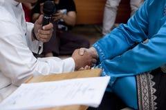 Akad Nikah (传统马来的婚礼誓约) 库存图片