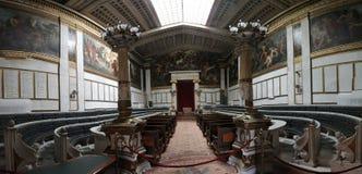 Akademi av konst, nationellt arkiv, bank av Grekland, Aten, Greec Royaltyfria Foton