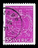 Akademi av musik - sidoimperf, serie, circa 1971 Arkivbilder
