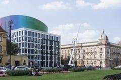 Akademi av musik, universitet av Zagreb royaltyfri fotografi