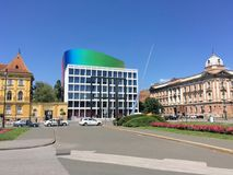 Akademi av musik, universitet av Zagreb royaltyfria foton