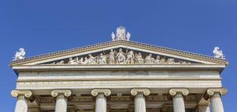 Akademi av vetenskaper i staden av Aten royaltyfri bild