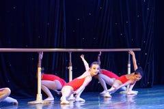 Akademi för dans för Peking för Barreutbildning som årlig graderar för barn` s för prov den utstående utställningen Jiangxi för p Arkivbild