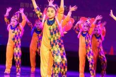 Akademi för dans för Peking för munterhetpark- som graderar för barn` s för prov den utstående utställningen Jiangxi för prestati Arkivfoto
