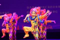 Akademi för dans för Peking för munterhetpark- som graderar för barn` s för prov den utstående utställningen Jiangxi för prestati Arkivbild