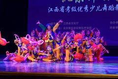 Akademi för dans för Peking för munterhetpark- som graderar för barn` s för prov den utstående utställningen Jiangxi för prestati Arkivbilder