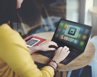 Akademicki nauczanie online edukaci Onlinego zastosowania pojęcie Zdjęcia Stock