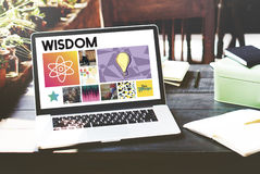 Akademicki wiedza uczenie piśmienności grafiki pojęcie Zdjęcie Royalty Free