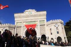 Akademikerprotest i Turkiet royaltyfri foto