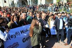 Akademikerprotest i Turkiet arkivfoto