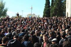 Akademikerprotest i Turkiet Arkivbild