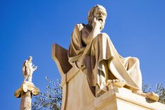 Akademin av Aten i Aten, Grekland royaltyfri foto