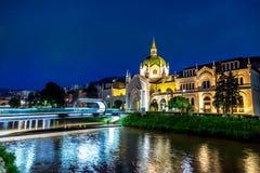 Akademin av konster Sarajevo royaltyfri foto