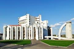 Akademisches Drama-Theater Novgorod genannt nach Fyodor Dostoevsky in Veliky Novgorod, Russland lizenzfreies stockbild