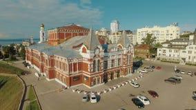 Akademisches Dramatheater des Samara stock video