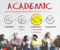 Akademisches Schulcollege-Hochschulbildungs-Konzept lizenzfreie stockfotos