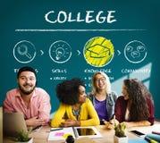 Akademisches Schulcollege-Hochschulbildungs-Konzept stockfoto