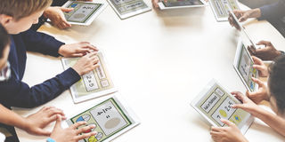 Akademisches Schulkind-E-Learning-Konzept Lizenzfreies Stockbild