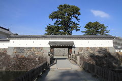 Akagane gate and Sumiyoshi bridge of Odawara castle Royalty Free Stock Photo