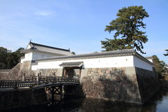 Akagane gate and Sumiyoshi bridge of Odawara castle Royalty Free Stock Photos
