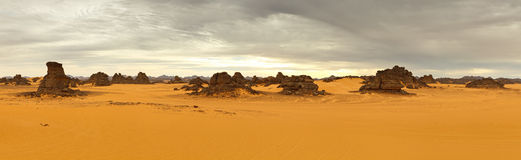 Akakus (Acacus) Mountains, Sahara, Libya Royalty Free Stock Photo