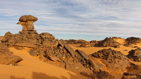 Akakus (Acacus) Mountains, Sahara, Libya Royalty Free Stock Photos
