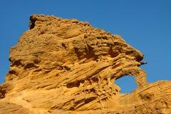 Akakus (Acacus) Mountains, Sahara, Libya. Bizarre sandstone rock formation royalty free stock photography