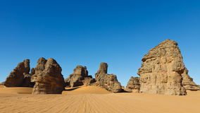 Akakus (Acacus) Mountains, Sahara, Libya Royalty Free Stock Photography