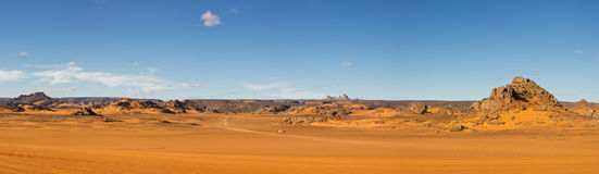 Akakus (Acacus) Mountains, Sahara, Libya Royalty Free Stock Image