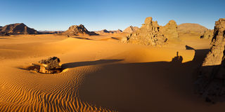 Akakus Mountains, Sahara, Libya at Sunrise Stock Images