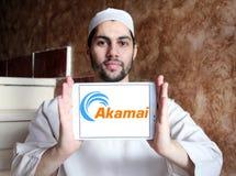 Akamai Technologies logo. Logo of Akamai Technologies on samsung tablet holded by arab muslim man. Akamai Technologies, Inc. is an American content delivery Stock Photography