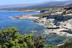 Akamas peninsula. The beautiful rocky Akamas Peninsula in Cyprus royalty free stock images