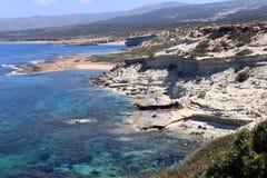 Akamas peninsula. The beautiful rocky Akamas Peninsula in Cyprus royalty free stock photography
